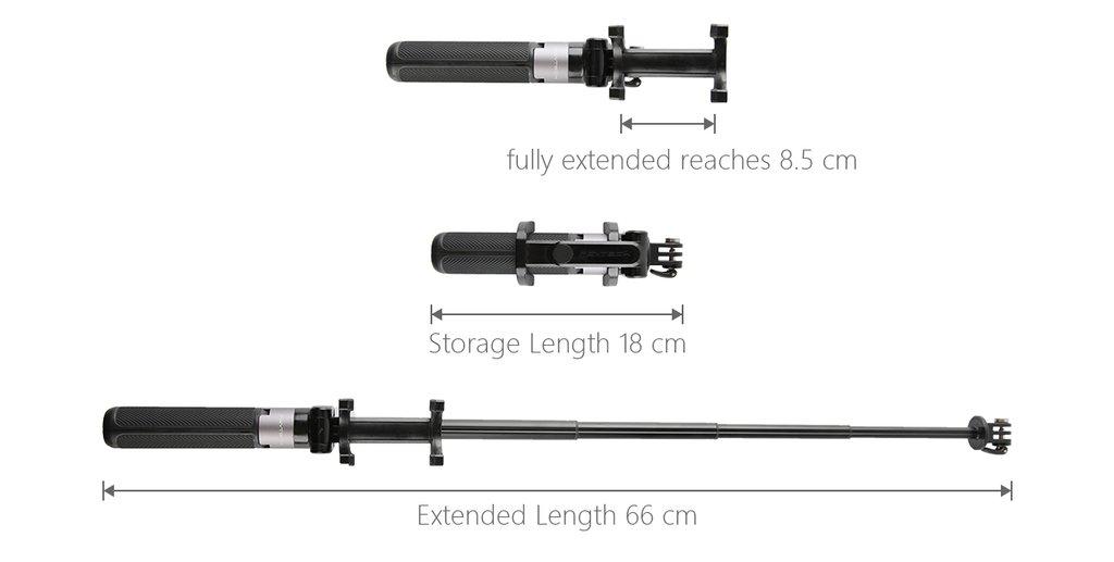 PGYTECH Action Camera Extension Pole Tripod Plus